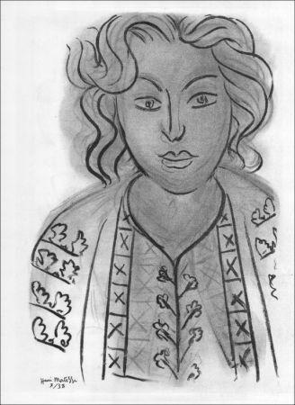 Litografía Matisse - Portrait. 1938.