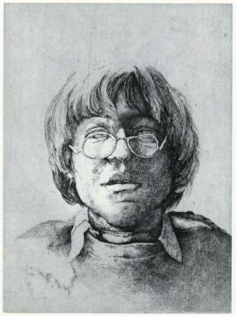 Grabado Desmazières - Portrait Aux Lunettes
