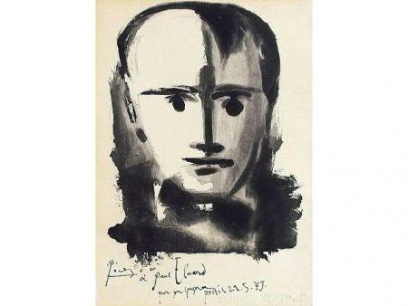 Aguatinta Picasso - PORTRAIT D HOMME A LA MECHE