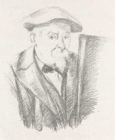 Litografía Cezanne - Portrait de Cézanne par lui-même, c. 1898