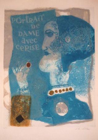 Carborundo Tobiasse - Portrait de dame avec cerise
