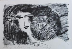 Litografía Ting - Portrait de Femme
