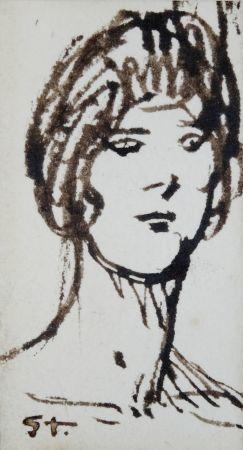 Sin Técnico Steinlen - Portrait de femme