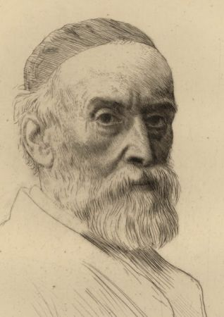 Grabado Legros - Portrait de G.F. Watts R.A.
