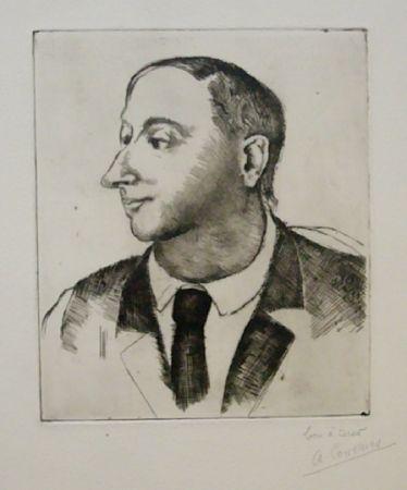 Aguafuerte Courmes - Portrait de Jean Briance
