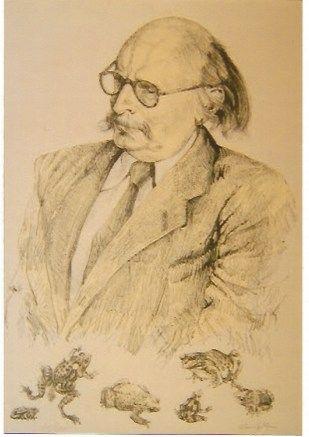 Litografía Foujita - Portrait de Jean Rostand