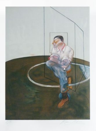 Litografía Bacon - Portrait de John Edwards