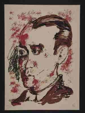Serigrafía Lüpertz - Portrait de Lorca