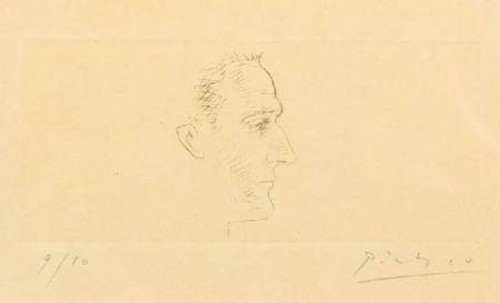 Punta Seca Picasso - Portrait de Marcel Boudin