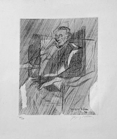 Grabado Villon - Portrait de Marcel Duchamps