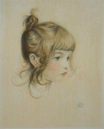Litografía Sauer - Portrait de Nicole