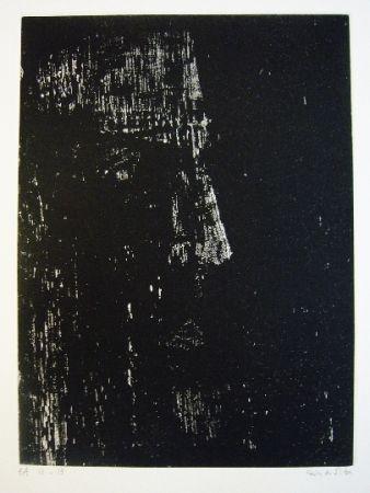 Grabado Vieira Da Silva - Portrait de René Char
