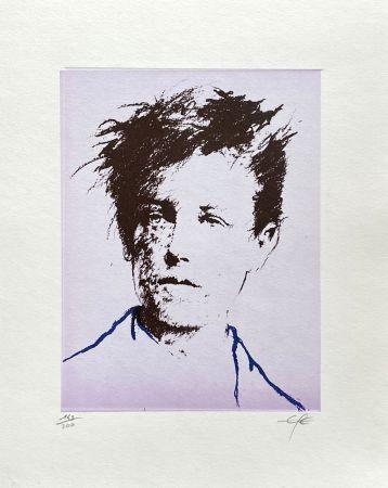 Litografía Pignon-Ernest - Portrait de Rimbaud