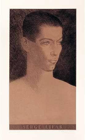Grabado Marcoussis - Portrait de Serge Lifar