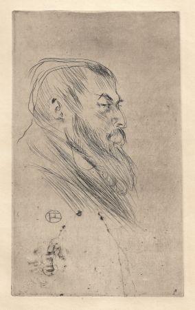 Punta Seca Toulouse-Lautrec - Portrait de Tristan Bernard