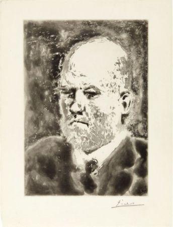 Aguatinta Picasso - Portrait de Vollard I