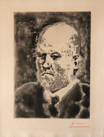 Aguatinta Picasso - Portrait de Vollard III