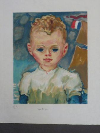 Litografía Van Dongen - Portrait d'enfant