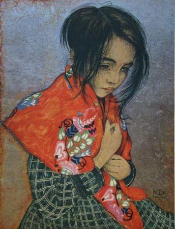 Grabado Sauer - Portrait d'enfant