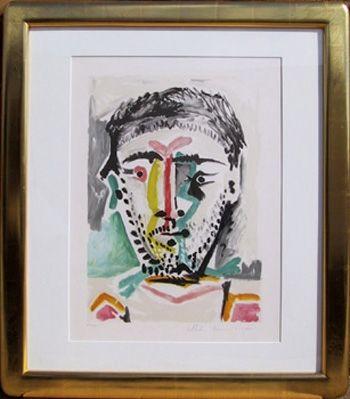 Litografía Picasso - Portrait d'Homme