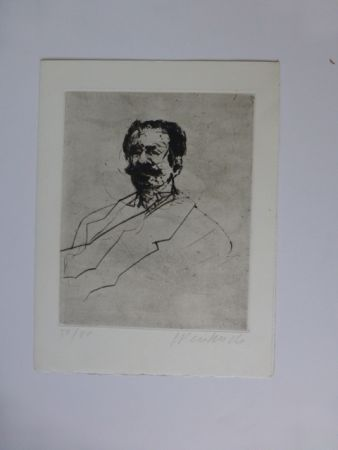 Grabado Weisbuch - Portrait d'homme