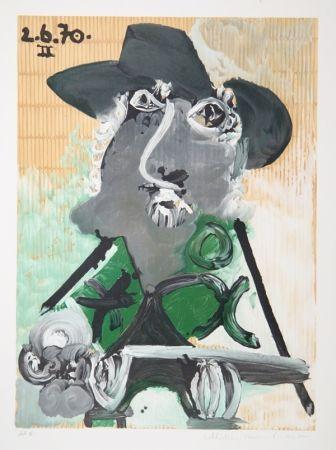 Litografía Picasso - Portrait d'Homme Au Chapeau