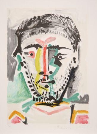 Litografía Picasso - Portrait d'Homme, J-103