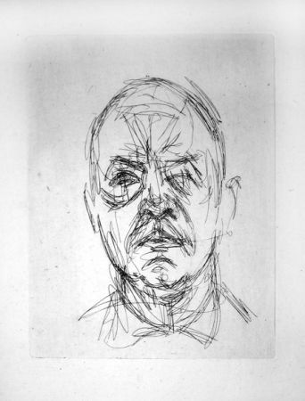 Grabado Giacometti - Portrait d'Iliazd