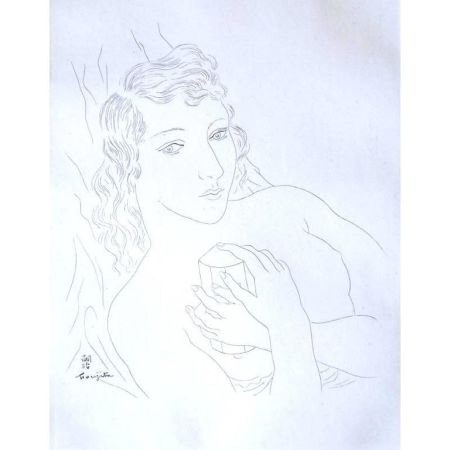 Litografía Foujita - Portrait d'Isabey