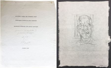 Punta Seca Giacometti - Portrait du célèbre Orbandale (Ilia Zdanevitch dit Iliazd)