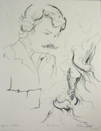 Litografía Bonnefoit - Portrait du peintre jc quilici