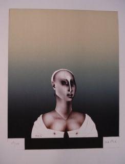 Litografía Wunderlich - Portrait d'une dame