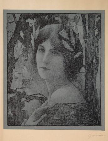 Litografía Guinier - (Portrait d'une jeune femme)