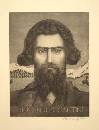 Grabado Segantini - Portrait Giovanni Segantini