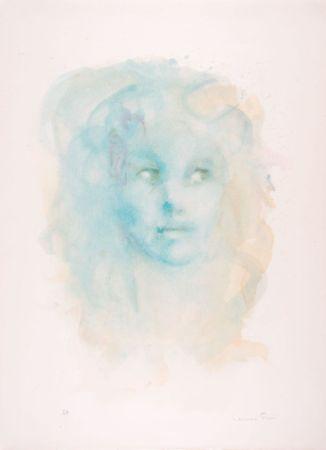 Litografía Fini - Portrait imaginaire bleu