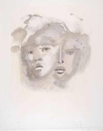 Litografía Fini - Portrait imaginaire brun
