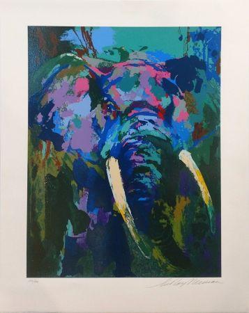Serigrafía Neiman - PORTRAIT OF AN ELEPHANT