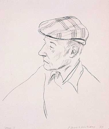 Litografía Hockney - Portrait Of Burroughs