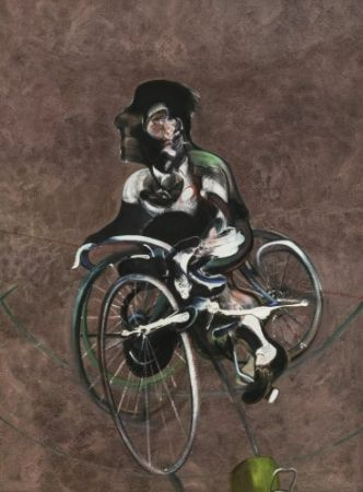 Múltiple Bacon - Portrait Of Georges Dyer Riding A Bicycle