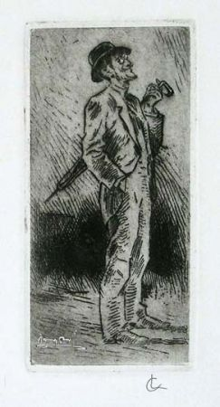 Grabado Conconi - Portrait of Giuseppe Brentano