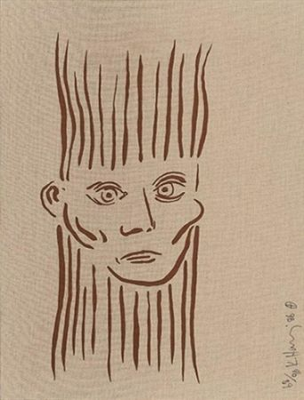 Serigrafía Haring - Portrait of Joseph Beuys