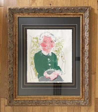 Litografía Hockney - Portrait of Mother 1