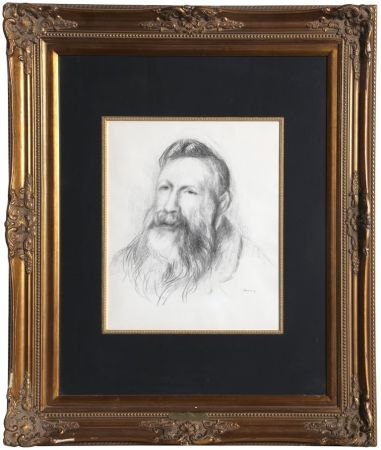 Litografía Renoir - Portrait of Rodin