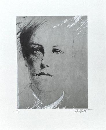 Litografía Pignon-Ernest - Portrait Rimbaud