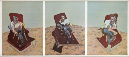 Litografía Bacon - Portrait von Lucien Freud