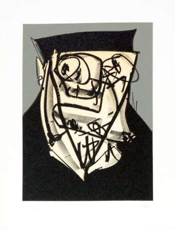 Litografía Saura - Portrait XIV