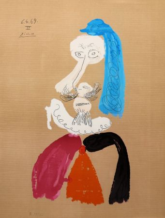 Litografía Picasso - Portraits Imaginaires 6.4.69 II