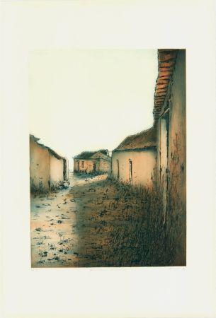Aguafuerte Y Aguatinta Gortner - Portugiesische Dorfstrasse
