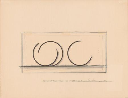 Litografía Venet - Position of three major arcs of 265.5° each