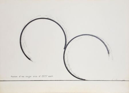 Serigrafía Venet - Position of Two Major Arcs of 257.5 Degrees Each